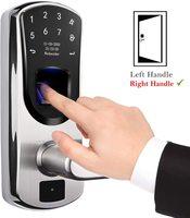 701 Fingerprint Lock 1 Year Battery Life Electronic Door Lock Crisis Digital Door Lock Cards Passwords Mechanical Keys Fingerprint Door Lock Anti-Peeping Waterproof Smart Door Lock for Home Office